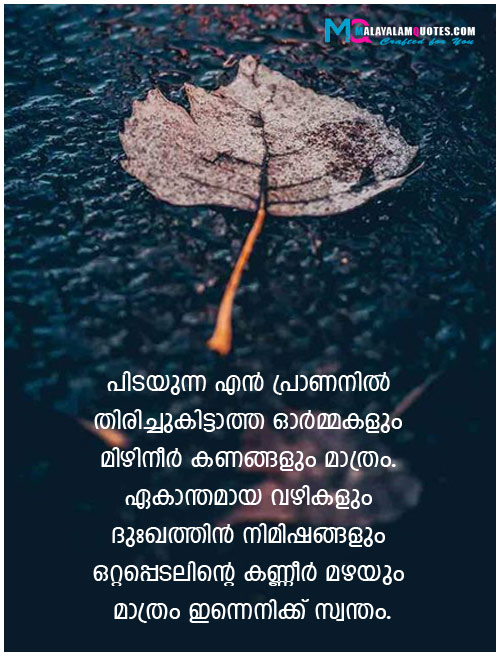 Alone Quotes in Malayalam